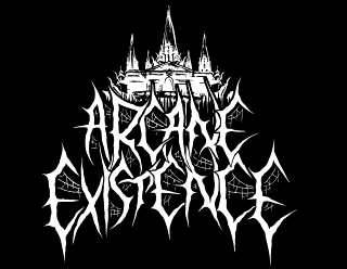Arcane Existence - Black Metal Band Logo Design with Dark Fortress