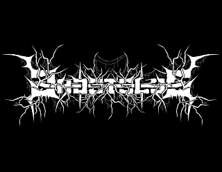 Ghostslug - Futuristic, Raw Industrial Black Metal Band Logo Design