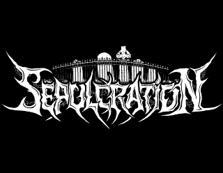Death Metal Graphic Design with Graveryard Tombstone Illustration