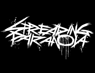 Spreading Paranoia - Deathcore Metal Band Logo Design