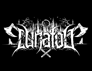 Lunafog Black Metal Band Logo Design with Wolves and Forest