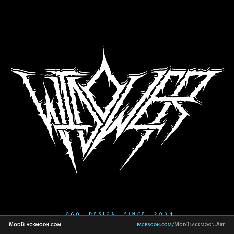 Black metal name logo generator