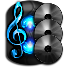 Audio CD Collection, Digital, Royalty-Free Icon