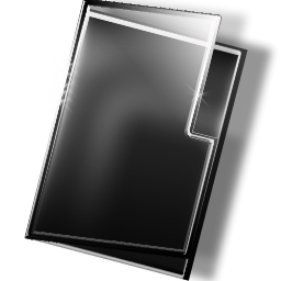 Download Dark Shiny glass and steel Folder free Clipart Icon, Directory, Category