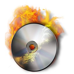 CD Compact Disc in Flames, DVD-R Burn, Free Transparent Stock Image for Designers