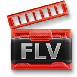 FLV Flash Video File free 256px Icon for Web-Design