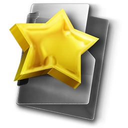 Favourites Folder Directory Freeware 3D Stock Icon for Design and Interface