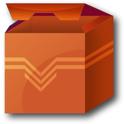 Install Package, Plastic Open Box Stock Icon with Transparent Background