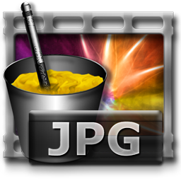 JPG File, Image, Brush and Cup, Freeware Icon for Web-Design for Commercial Use 256px