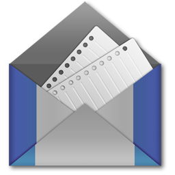 Mail, E-mail Envelope Blue Icon free Stock Image Transparent Background