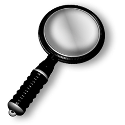 Black Plastic Magnifier, Magnifying Glass Search Icon free 256px transparent stock Clipart