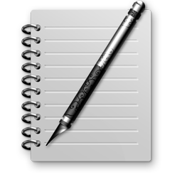 Notepad, Text, Notes Stock Icon Image with Transparent Background