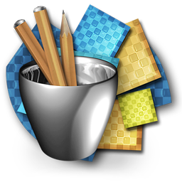 Textures and Pencils in the metal Cup Royalty-Free Clipart Icon