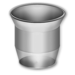 Trash Can, Bin Empty, Transparent Stock Icon for Web-Design