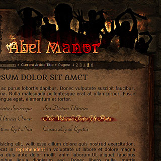 Abel Manor Web-Design, Ancient Book Horror Style