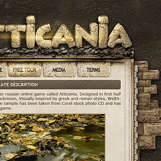 Atticania - Greek Roman Game Interface Design by ModBlackmoon