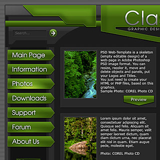 Classic glossy plastic corporate Web-Template Preview