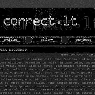 Dark, gothic, black, raw noisy web-design