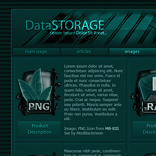 Dark Aqua Green smooth Web-Template Preview