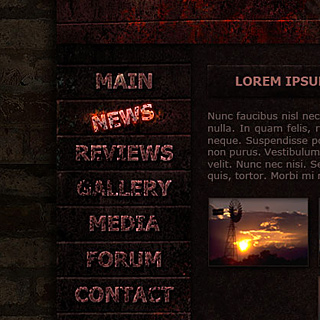 MB-Dead-End dark grunge commercial web-template by ModBlackmoon