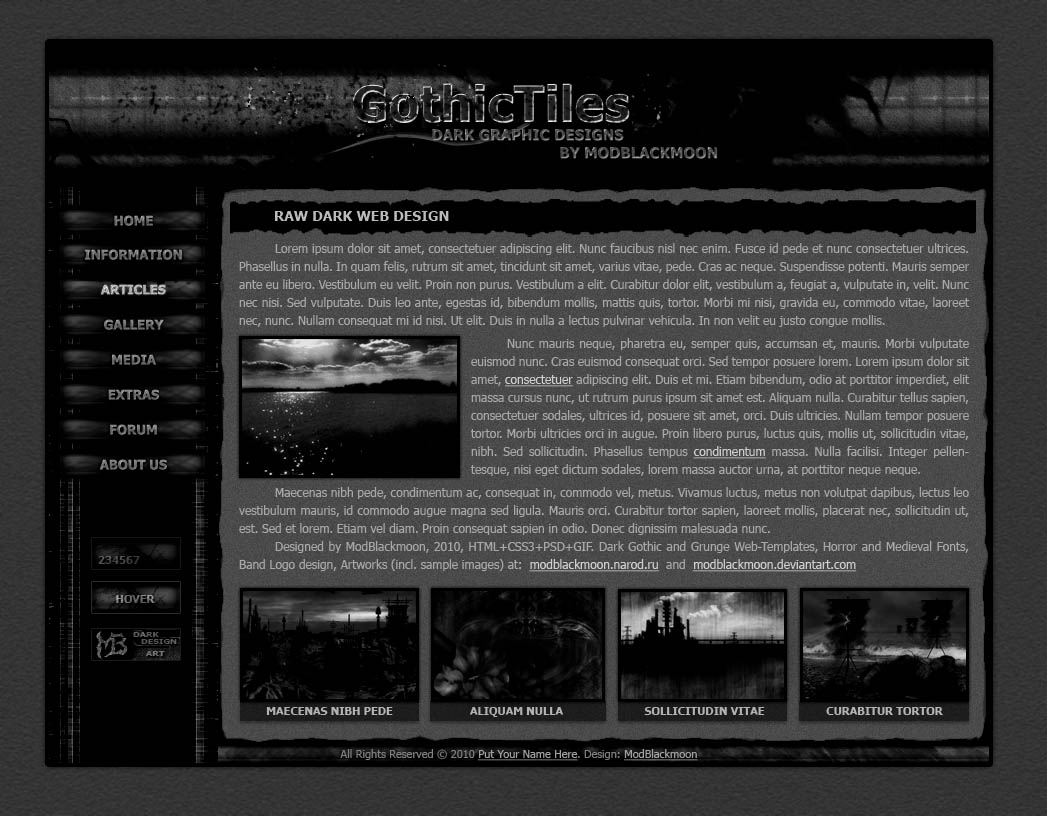 Modblackmoon dark grunge gothic industrial horror web design download the preview pronofoot35fo Gallery