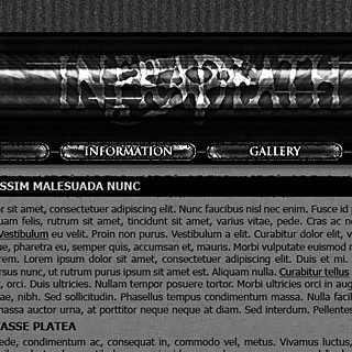 Dark industrial black grunge web design