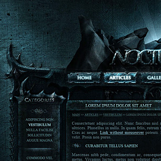 MB-NocturnalMedia dark cold atmospheric Web design by ModBlackmoon