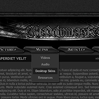 Dark Gothic Website Template design by ModBlackmoon