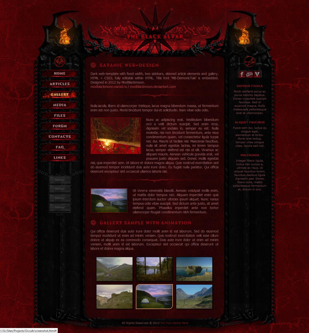ModBlackmoon | Unique Dark Grunge, Gothic & Horror Web-Design