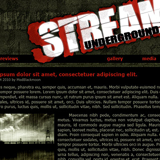 Dark Raw Grunge Industrial Web-Template Design Screenshot
