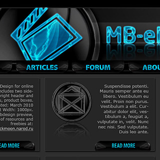 Techno Style Dark Neon Commercial Web-Template Preview
