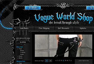 Gothic, Emo, Metalhead, Punk Clothing and Accessories Market Web-Design