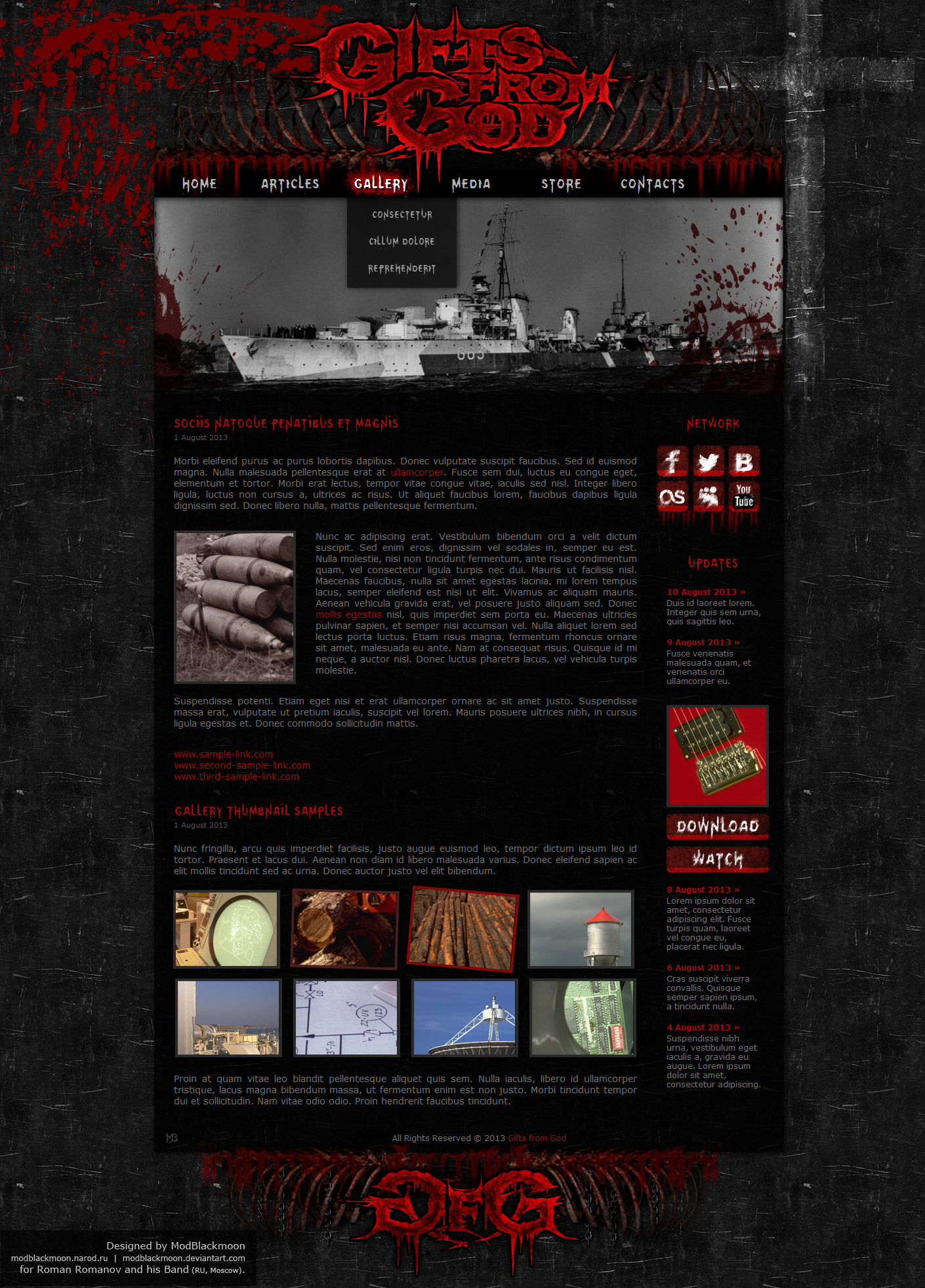 modblackmoon unique dark grunge gothic horror web design. Black Bedroom Furniture Sets. Home Design Ideas