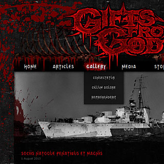 Metalcore, Deathcore Metal Band Website Design