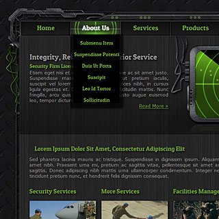Preview Dark Hi-Tech military style Web-Design for Security Group with panels and wires